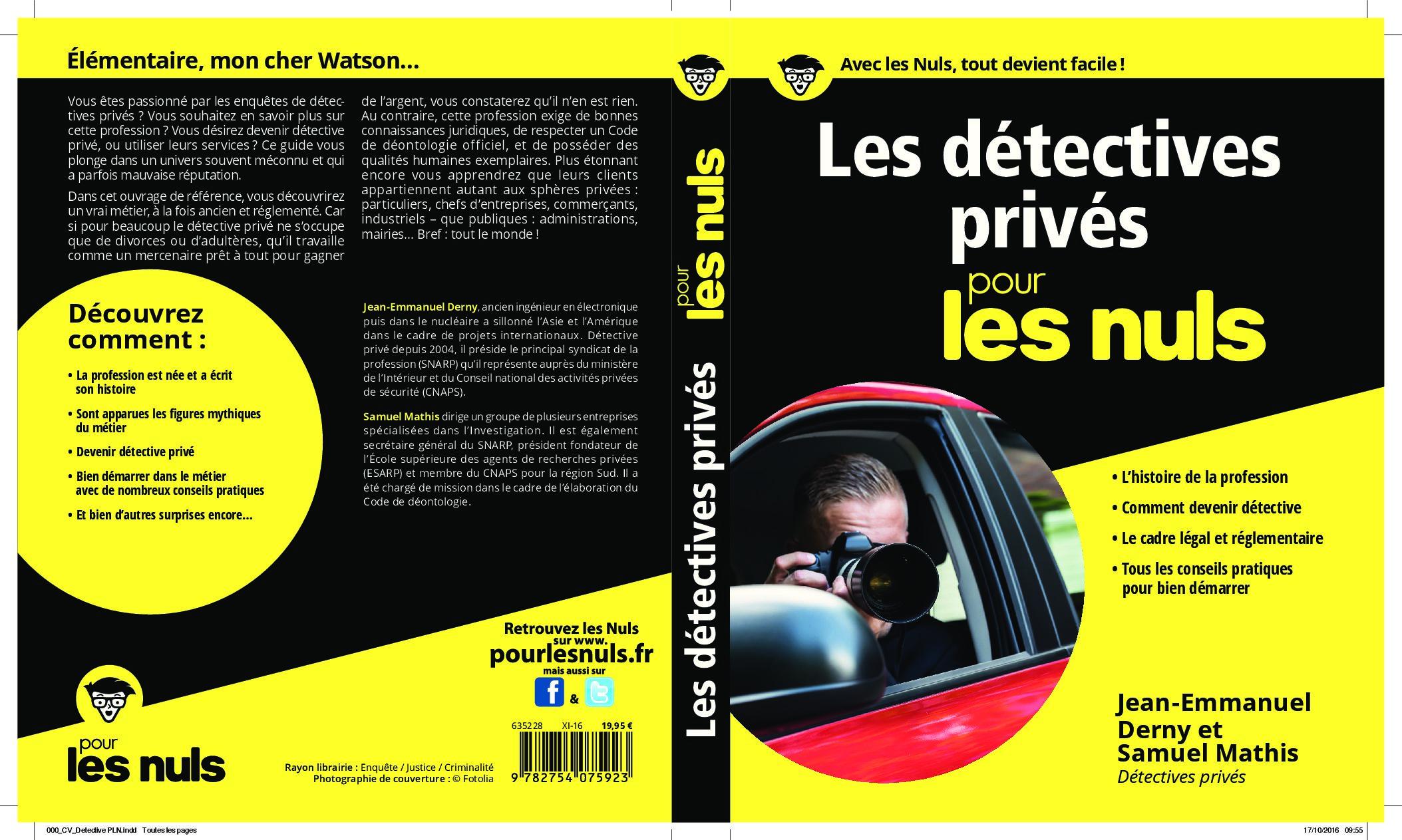 """""""Elémentaire mon cher Watson"""" : Les détectives privés pour les nuls"""
